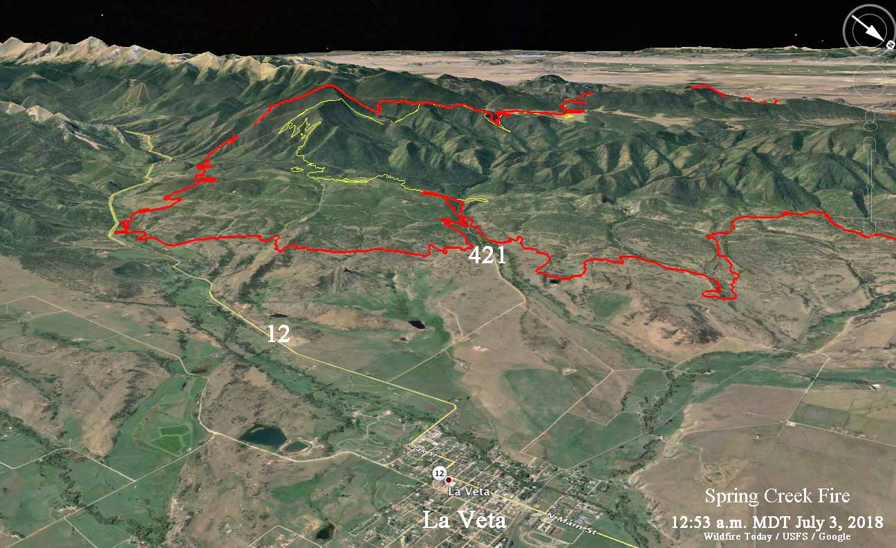 Maps of Spring Creek Fire, July 3, 2018   Wildfire Today