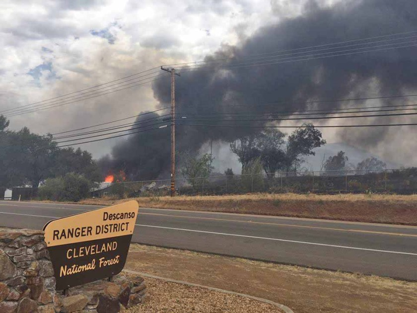 forest service district office fire
