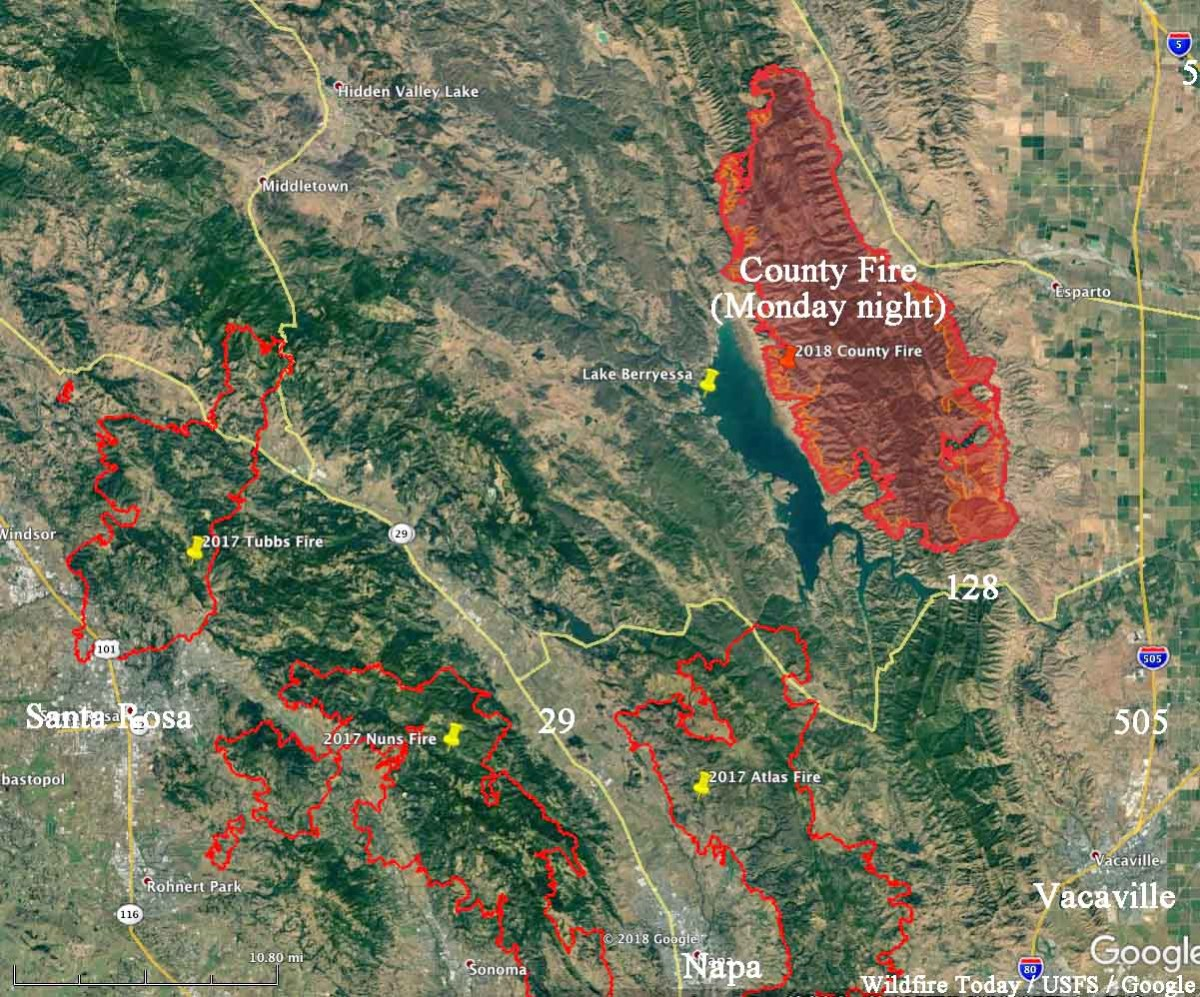 County Fire expands to 70,000 acres