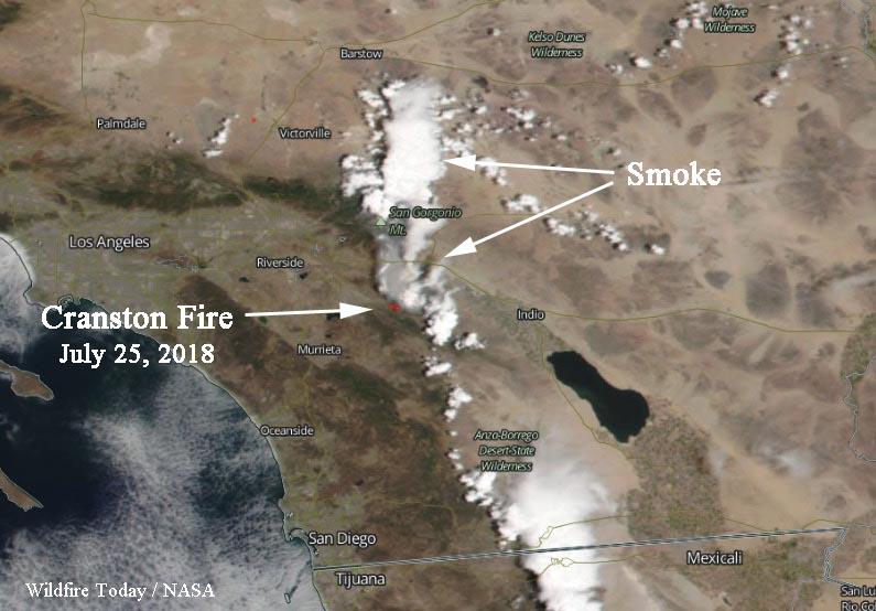 Cranston Fire Causes Evacuations East Of Hemet California