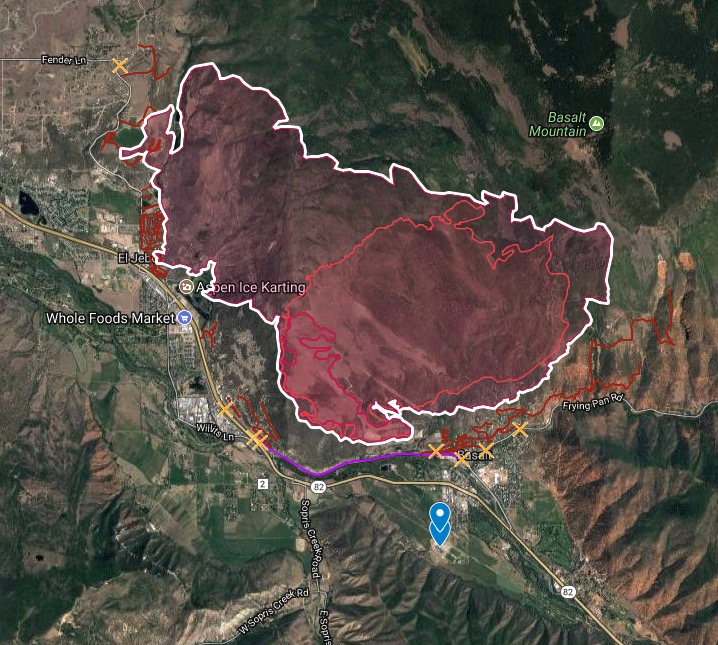 map lake christine fire