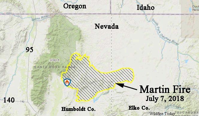 Martin Fire map