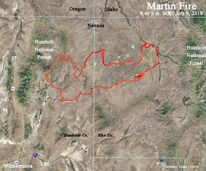 map martin fire