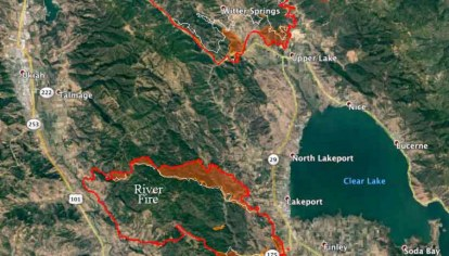 Mendocino Complex Of Fires Grows Closer To Communities Around Clear