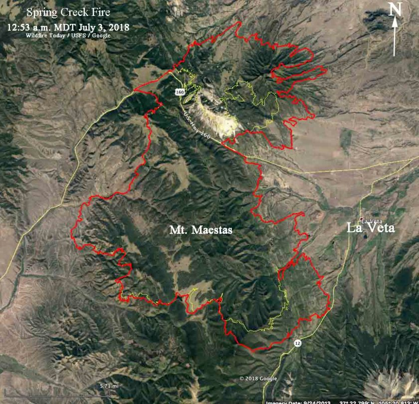 map Spring Creek Fire