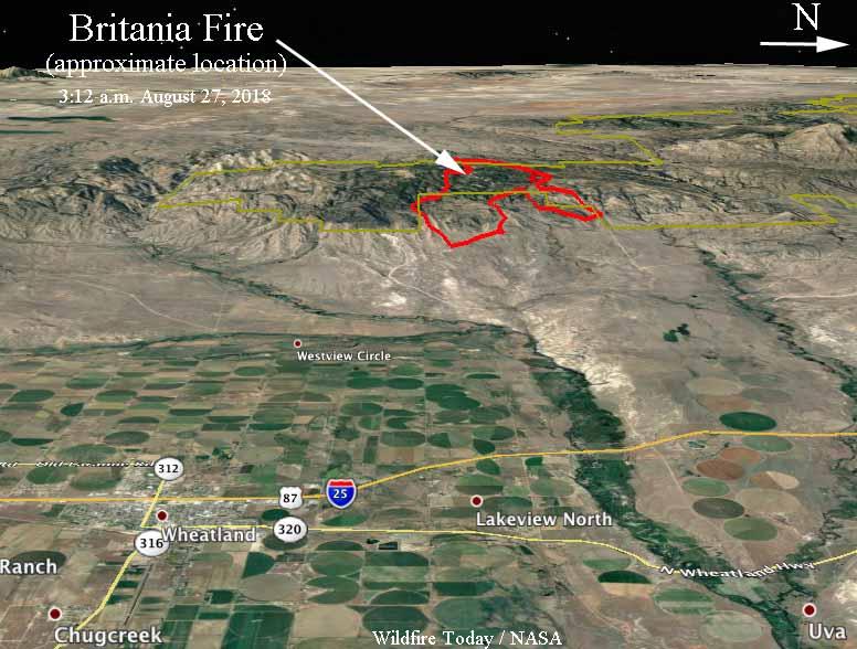 map Britania Mountain fire