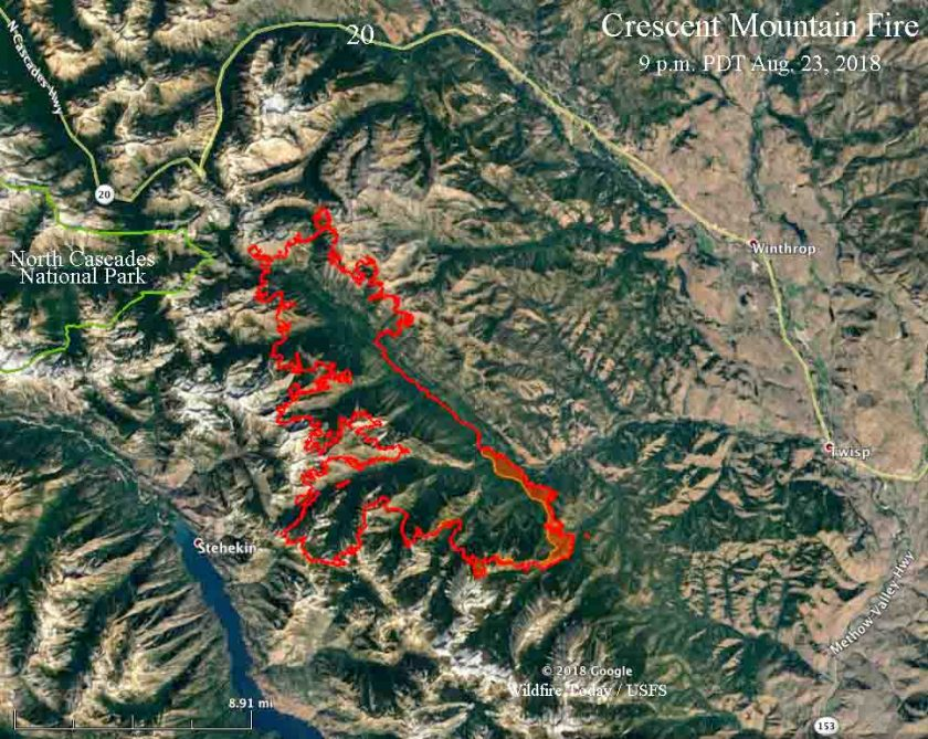 map Crescent Mountain Fire