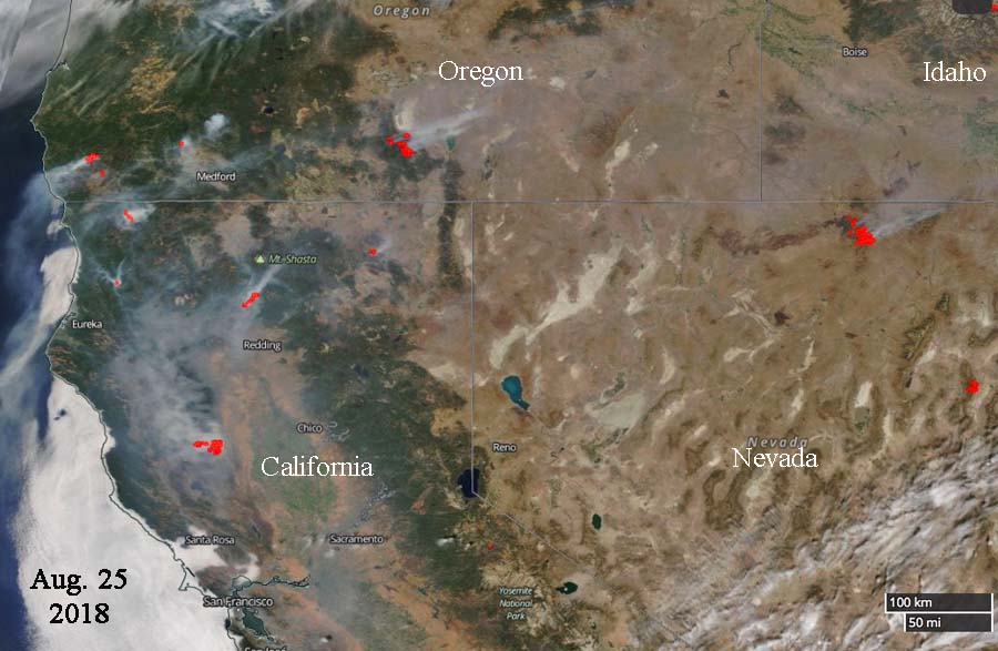 satellite photo wildfires