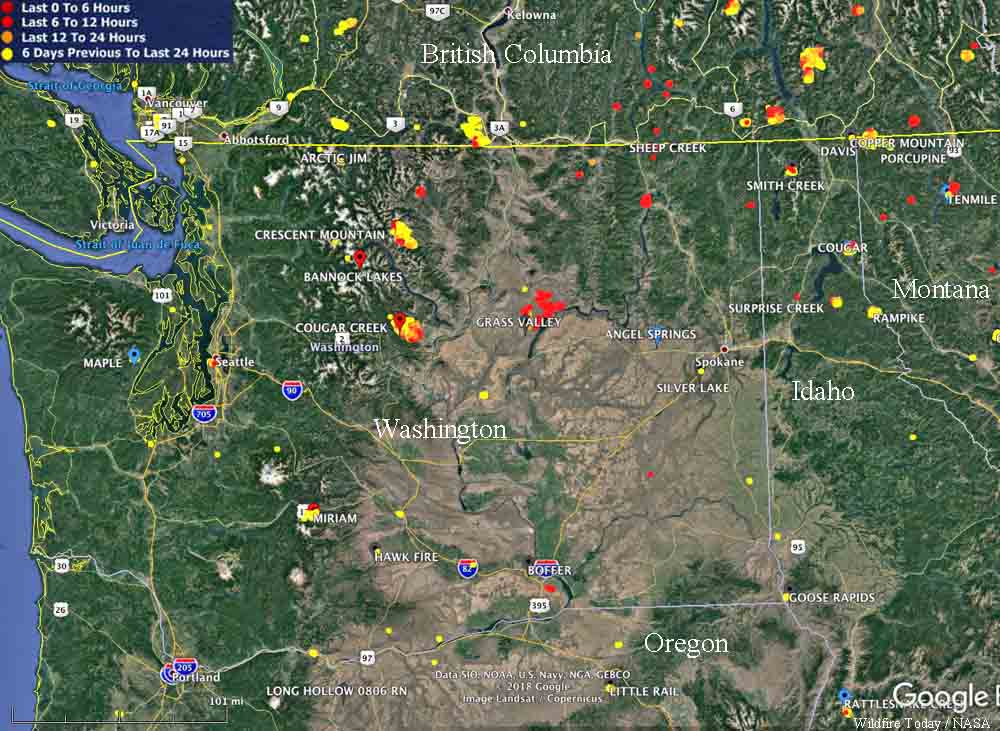 Wildfire Activity Increases In Washington Wildfire Today