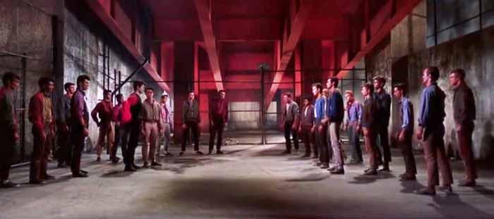fight scene in West Side Story