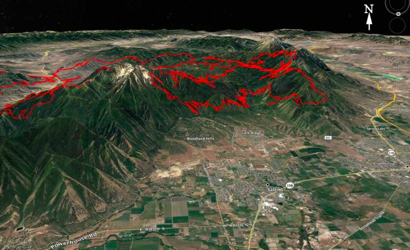 Map Pole Creek Bald Canyon Fires