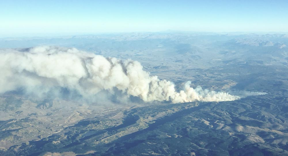 Silver Creek fire near Kremmling, Colo. awakens