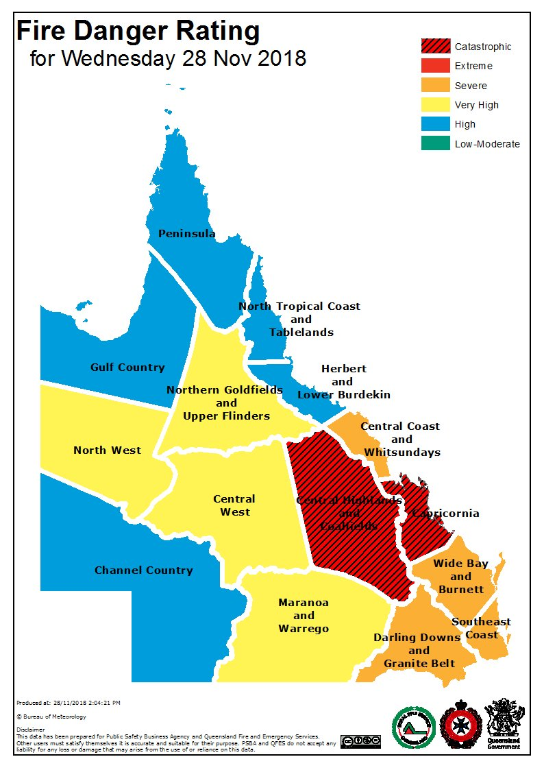 Queensland fire danger