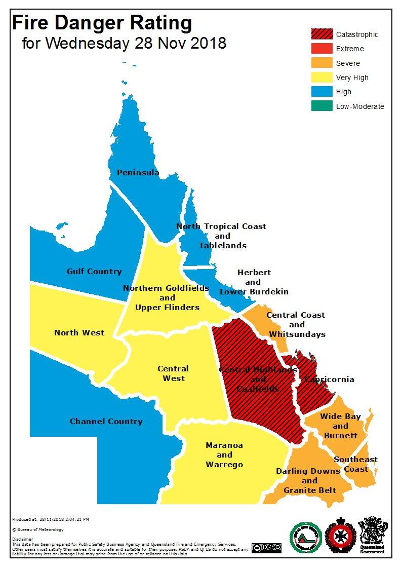 Queensland fire danger