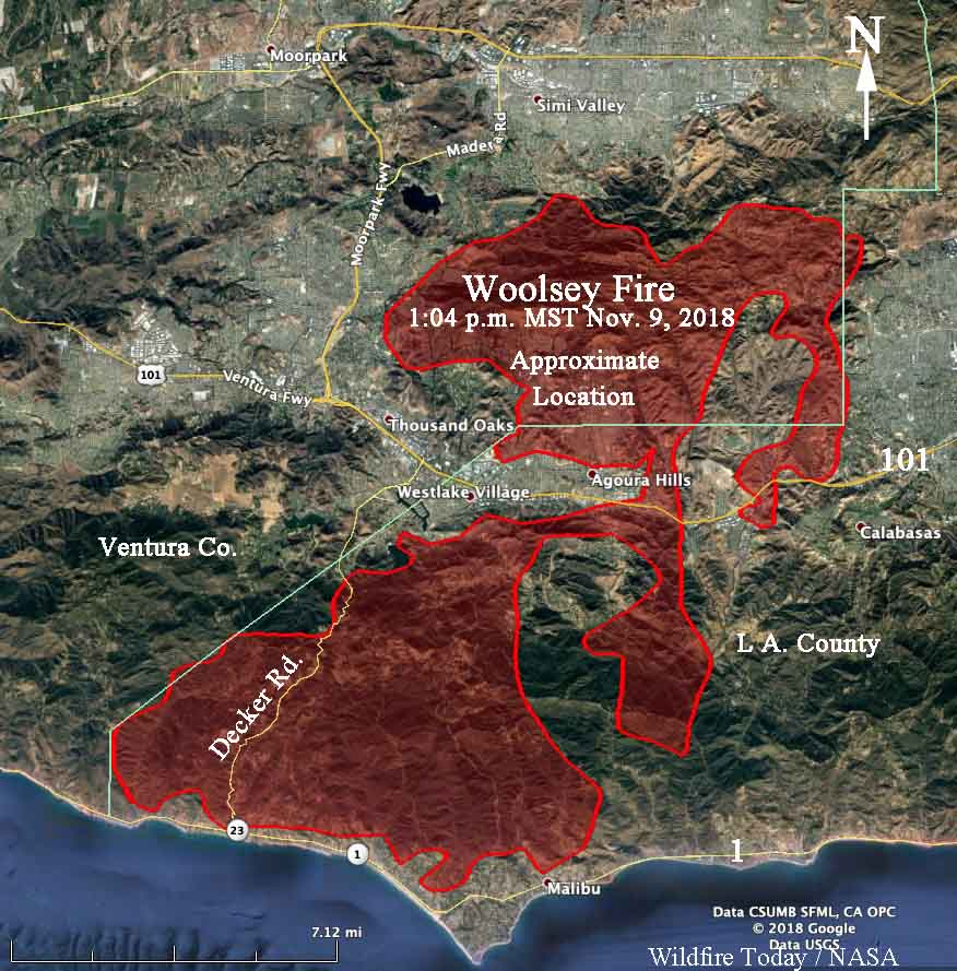 Map Of California Malibu.Wildfires Near Thousand Oaks California Put Over 100 000 Homes