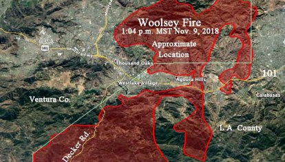 Woolsey Fire burns to the ocean as 200,000 evacuate   Wildfire Today