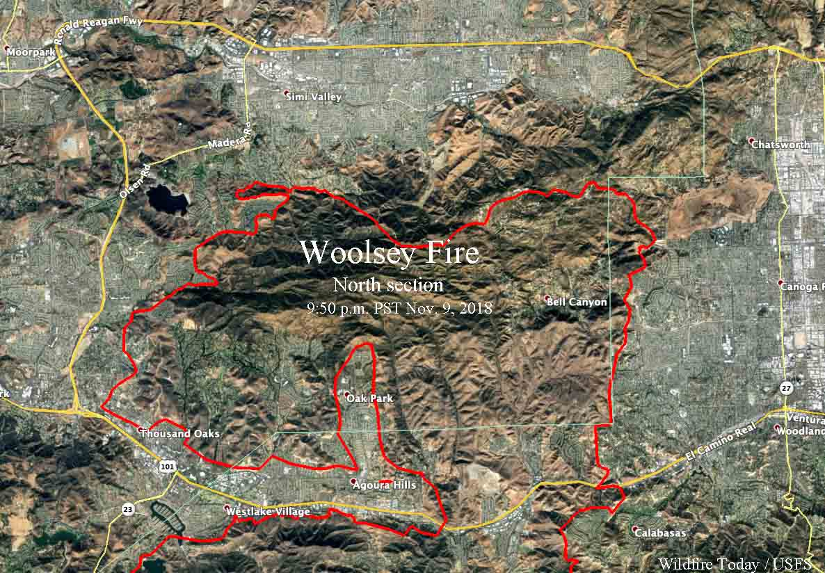 Hills Fire Map.Woolsey Fire Map Www Topsimages Com