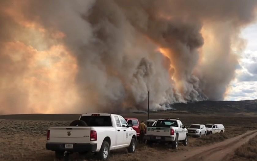 fire wildfire nevada send it