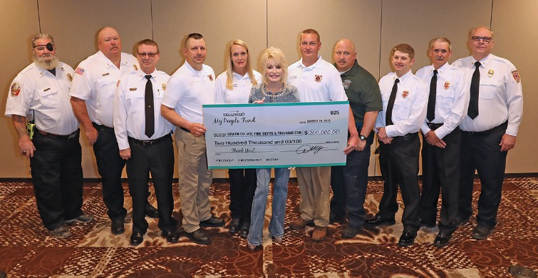 Dolly Parton donation fire departments