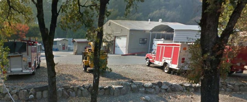 fire CAL FIRE Sonoma-Lake-Napa Unit in St. Helena, California