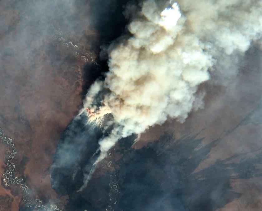 wildfires Siberia satellite photo