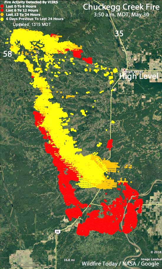 Map Chuckegg Creek Fire Northern Alberta
