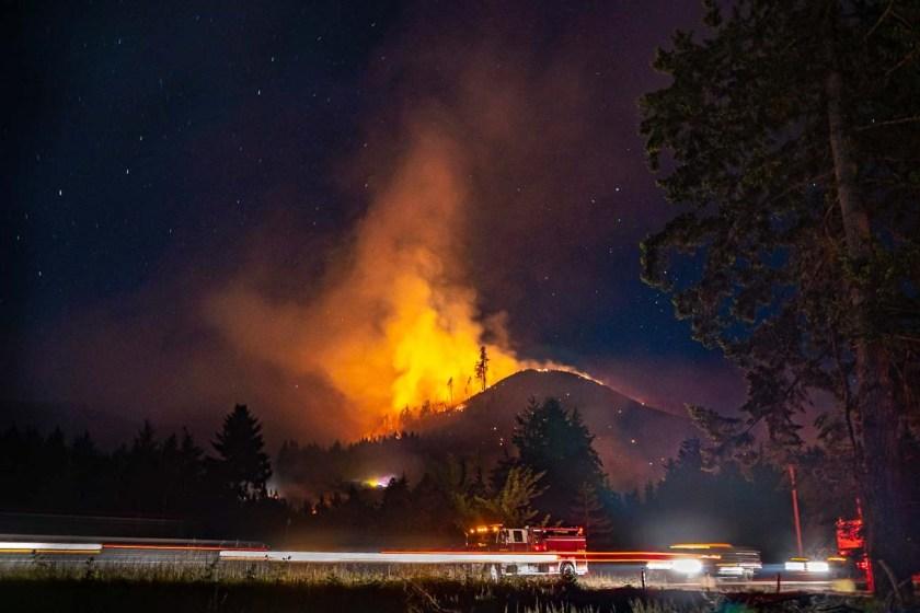 Dowens 2 Fire Oregon wildfire