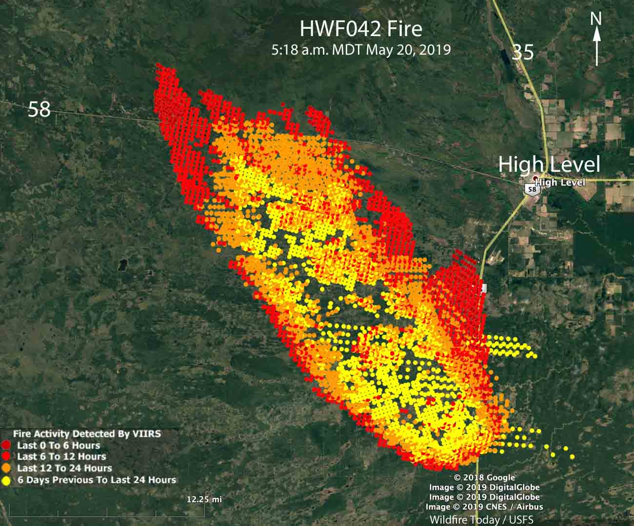 Alberta Wildfires Map Wildfire in Alberta burns more than 100,000 acres   Wildfire Today