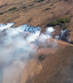 Oregon Lakes Fire burnout slopover