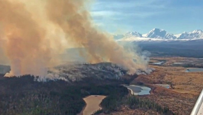 Oregon Lakes Fire, May 1, 2019
