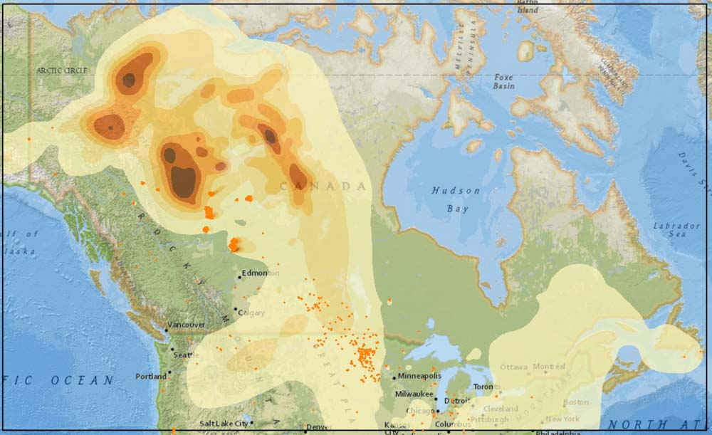 Canadian wildfire smoke spreads into the Eastern U.S. ...