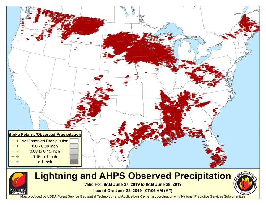 Lightning Archives Wildfire Today - Us-lightning-strike-map