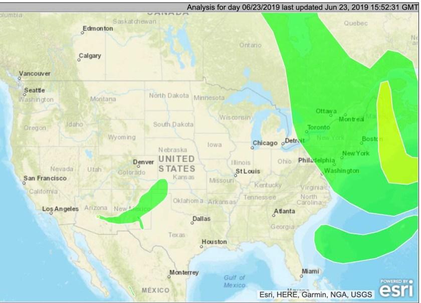 Wildfire smoke maps, June 23, 2019 - Wildfire Today