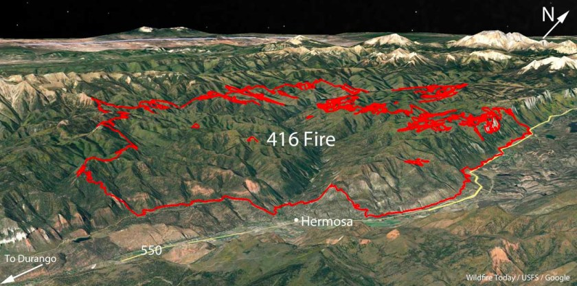 map 416 fire Colorado
