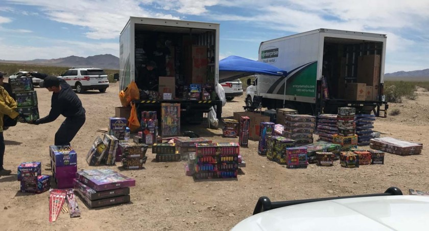 Fireworks seized Southern California