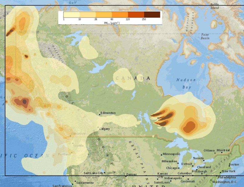 Smoke Forecast wildfires Canada