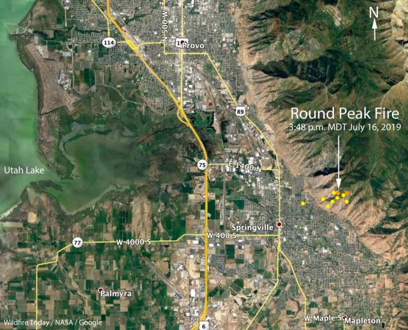 map Round Peak Fire