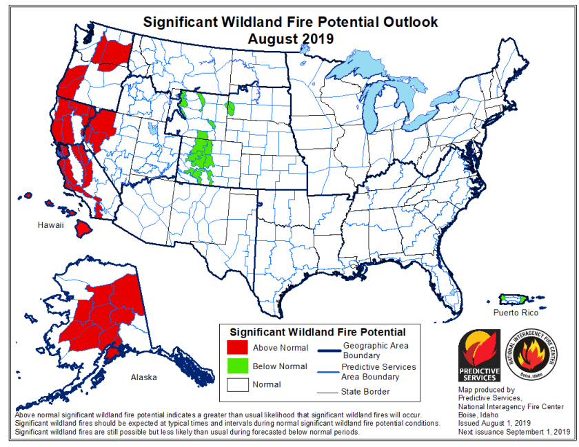August wildfire outlook