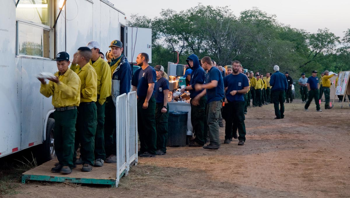fire camp incident base catering contractor