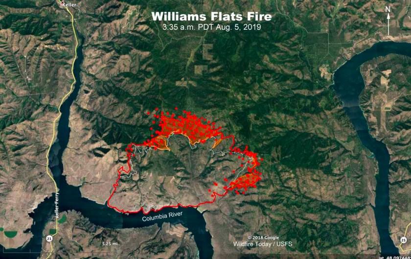 map Williams Flats Fire Washington