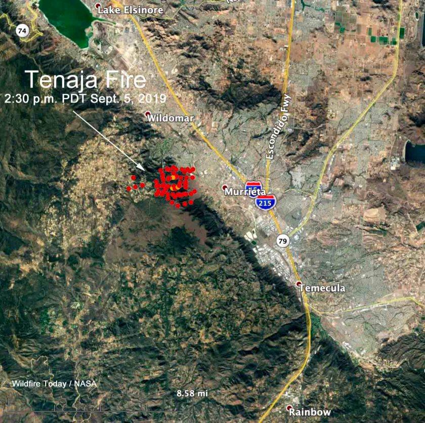 map Tenaja Fire