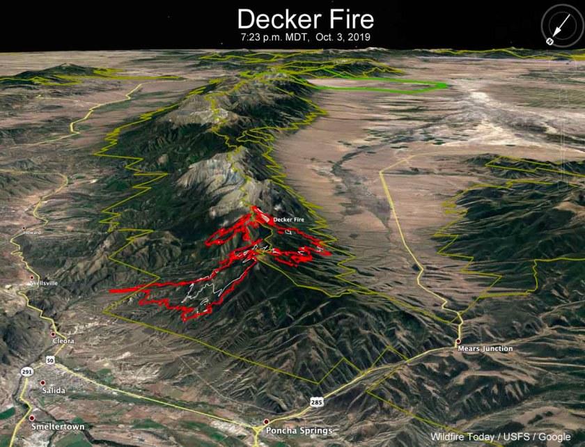3-D map Decker Fire