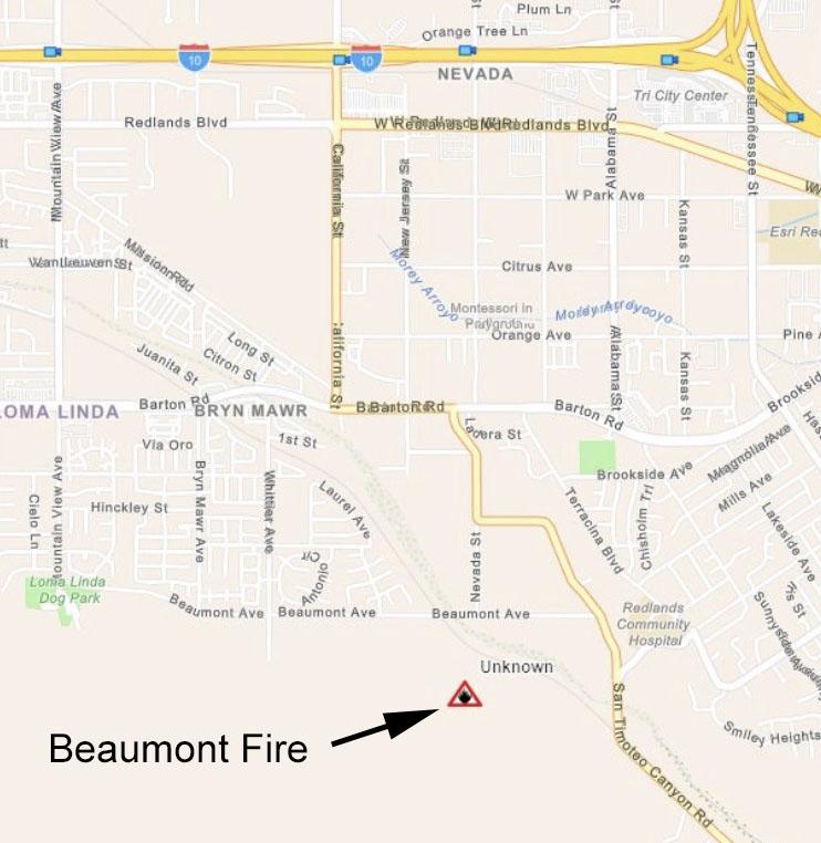 Beaumont Fire map