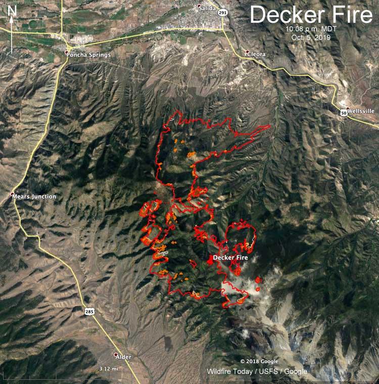 map Decker Fire