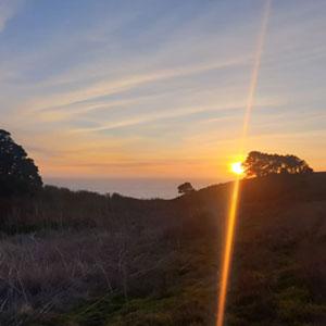 sunset on the mendocino coast