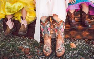 fancy girls in cowboy boots