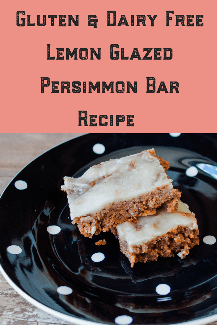 Looking for a fabulous Persimmon dessert recipe? Try our Gluten and Dairy Free Lemon Glazed Persimmon Bars! Keto and Paleo Approved!