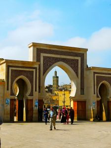 Bab (gate) in Fez, Morocco