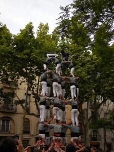 Catalan Castellers in Placa d'Osca