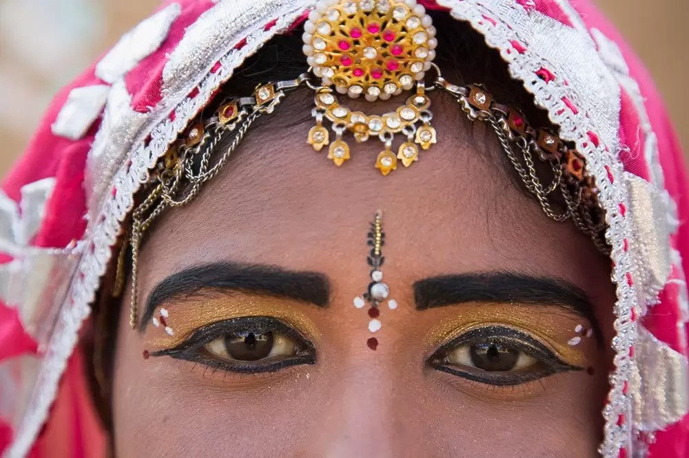 Rajasthani dancer, portrait